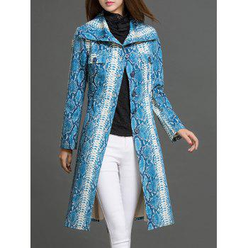 Wrap Coat With Snake Pattern