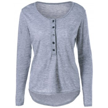 Long Sleeve One Breasted T-Shirt