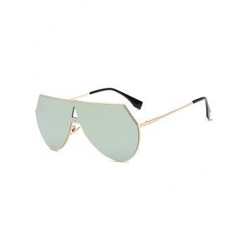 Cool Hollow Triangle Shield Mirror Sunglasses