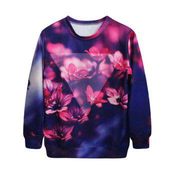 Flower Print Galaxy Sweatshirt