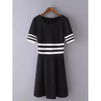 Striped Patchwork Swing Dress