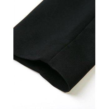 Pocket Design Shawl Collar Blazer - BLACK BLACK