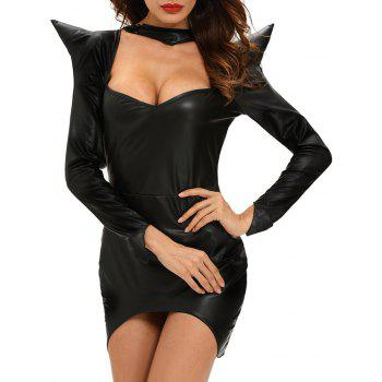 Halloween Hooded Asymmetrical Dress