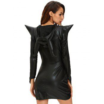 Halloween Hooded Asymmetrical Dress - BLACK S
