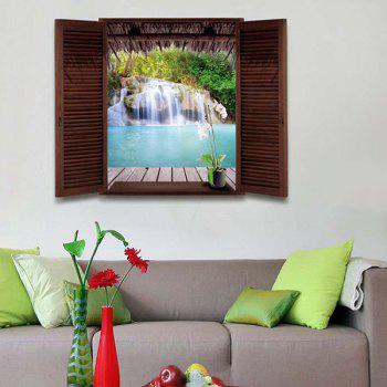 Home Decor 3D Stereo Natural Waterfall Window Design Wall Stickers