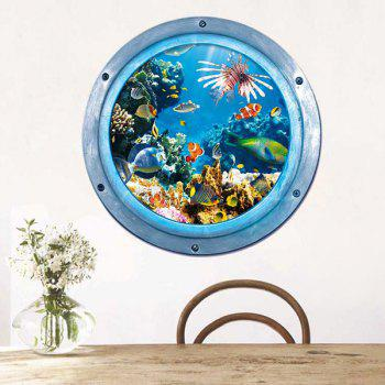 3D Stereo Sea World Pattern Kids Room Wall Stickers