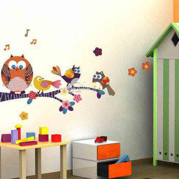 Cartoon Owl Animal Pattern Home Decor Wall Stickers