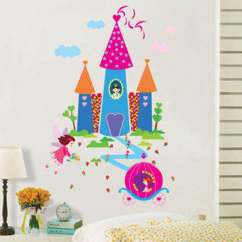 Cartoon Castle Pattern Waterproof Kids Room Wall Stickers
