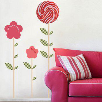 Lollipop Floral Pattern Removable Home Decor Wall Stickers