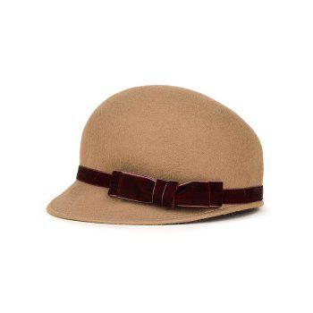 Outdoor Velvet Bowknot Band Horsemanship Hat