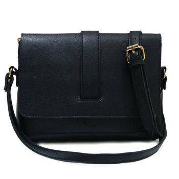 Concise PU Leather Strap Crossbody Bag