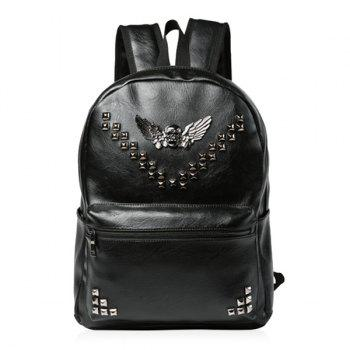 Rivet Skull PU Leather Backpack