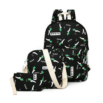 Canvas Foods Print Backpack