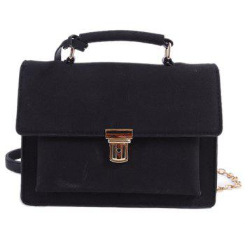 Square Shape Chain Covered Closure Crossbody Bag