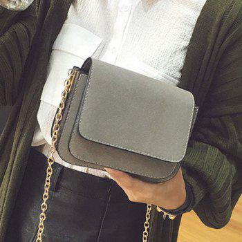 Chain Covered Closure PU Leather Crossbody Bag