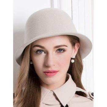 Floppy Wool Crown Bowler Hat