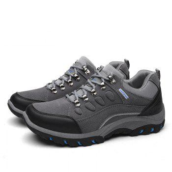 Colour Block Metal Splicing Athletic Shoes - GRAY 44