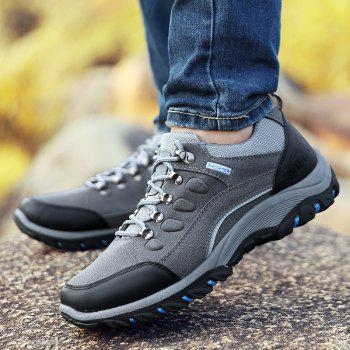 Colour Block Metal Splicing Athletic Shoes - GRAY 42