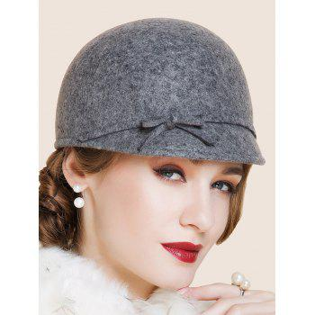 Outdoor Bowknot Lace up Cloche Hat