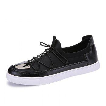 Cross Straps Metal Stretch Fabric Casual Shoes