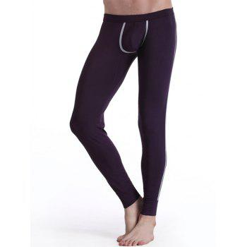 Warmth Elastic Waist Edging Long John Pants