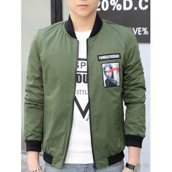 Stand Collar Patch Design Bomber Jacket