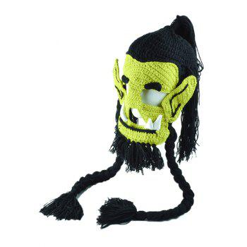 Handmade Knitted Easter Monster Mask Hat