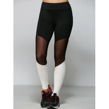 See Thru Mesh Yarn Patch Yoga Leggings