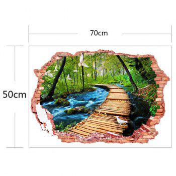 3D Stereo Nature Landscape Design Home Decor Wall Stickers - COLORFUL