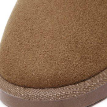 Concise Flat Heel Mid-Calf Snow Boots - LIGHT BROWN LIGHT BROWN