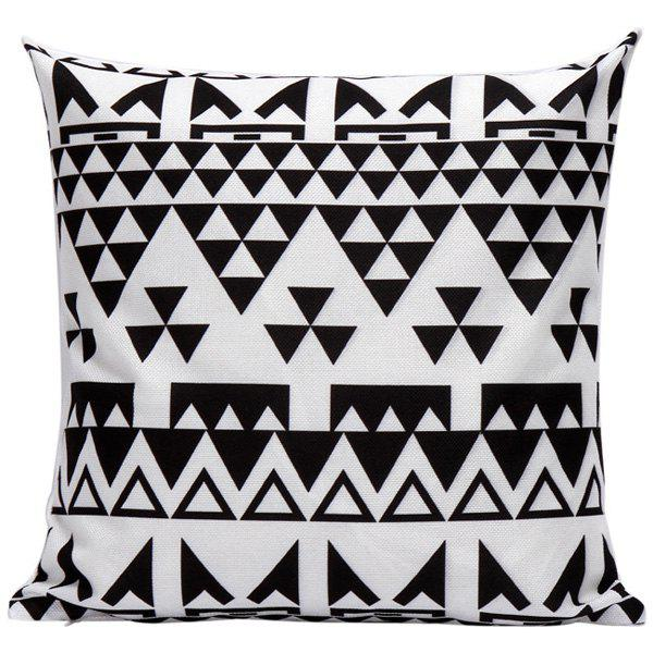 Geometrics Triangles Decorative Super Soft Household Pillow Case colorful letters decorative super soft household pillow case