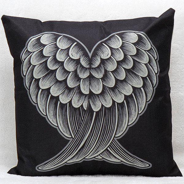 Red and Black Heart Wings Decorative Super Soft Household Pillow Case 1more super bass headphones black and red