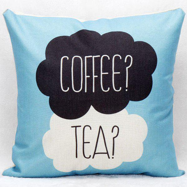 Coffee Tea Decorative Super Soft Household Pillow Case colorful letters decorative super soft household pillow case