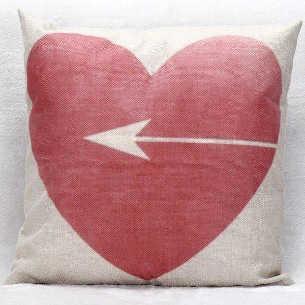 Heart Shape Decorative Super Soft Household Pillow CaseHome<br><br><br>Color: RED WITH WHITE