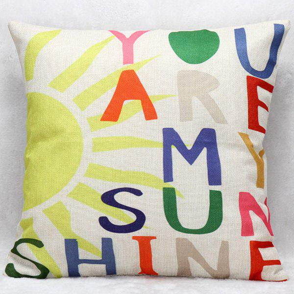 Colorful Letters Decorative Super Soft Household Pillow Case colorful letters decorative super soft household pillow case