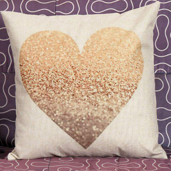 Heart Pattern Decorative Super Soft Household Pillow Case colorful letters decorative super soft household pillow case