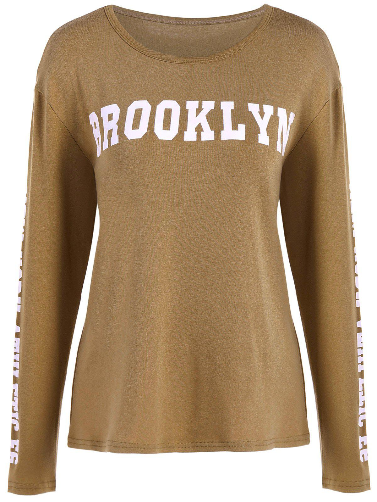 Minceur Brooklyn T-shirt graphique - Kaki M