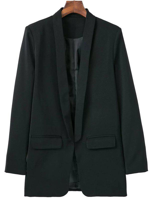 Pocket Design Shawl Collar Blazer - BLACK S
