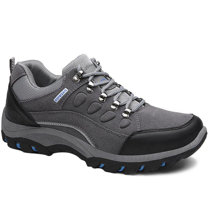 Colour Block Metal Splicing Athletic Shoes - GRAY 40