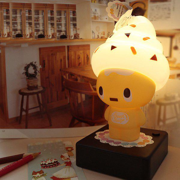 USB Eye Protection Cartoon Ice Cream Characters Desk LampHome<br><br><br>Color: YELLOW