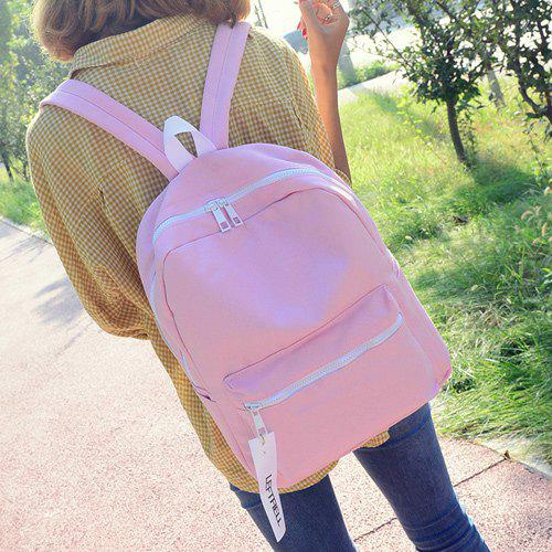 Casual Canvas Pendant BackpackBags<br><br><br>Color: PINK