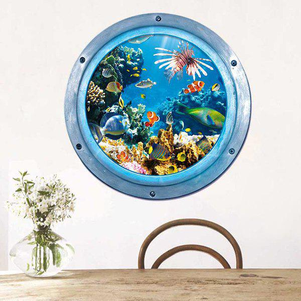 3D Stereo Sea World Pattern Kids Room Wall Stickers cartoon sea world dolphin personalised kids room vinyl wall stickers