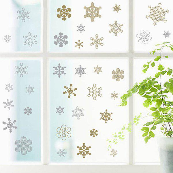 Removable Christmas Snowflake Pattern Window Wall Stickers - WHITE