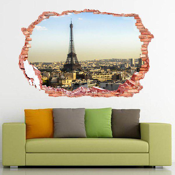Home Decor 3D Stereo Eiffel Tower Design Wall StickersHome<br><br><br>Color: COLORMIX