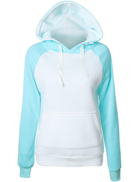 Raglan manches Patchwork Hoodie - Pers S