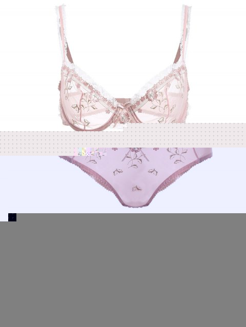 35f688f289ab 78% OFF] 2019 See-Through Bowknot Lace Bra Panty Set In PINK | DressLily