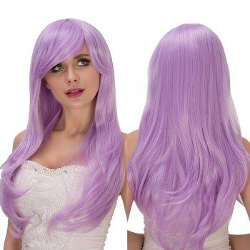Long Shaggy Wavy Oblique Bang Tail Adduction Lolita Wig
