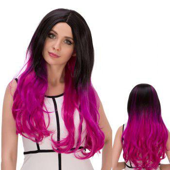 Colormix Centre Parting Long Shaggy Wavy Synthetic Lolita Wig