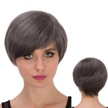 Spiffy Short Straight Side Bang Heat Resistant Fiber Wig