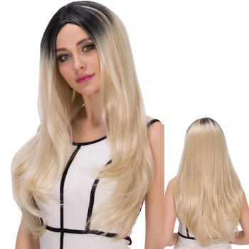 Long Colormix Straight Centre Parting Synthetic Wig